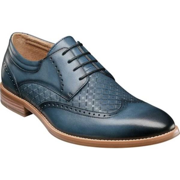 ステイシーアダムス メンズ ドレスシューズ シューズ Fallon Wing Tip Oxford Blue Smooth Leather