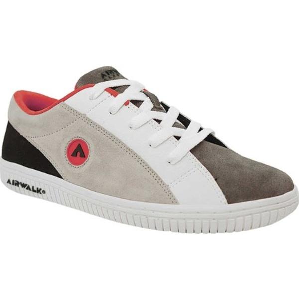 エアウォーク メンズ スニーカー シューズ The One Skate Shoe Black/Grey/Red Suede