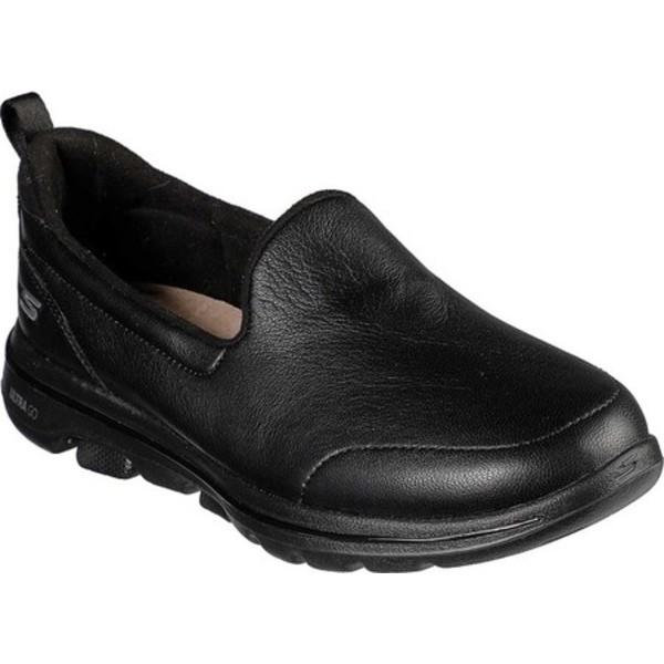 スケッチャーズ レディース スニーカー シューズ GOwalk 5 Wonder Slip-On Black/Black