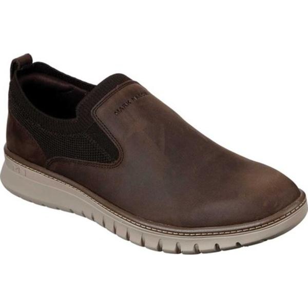 マークネーソン メンズ スニーカー シューズ Neo Casual Rennic Slip-On Chocolate Dark Brown