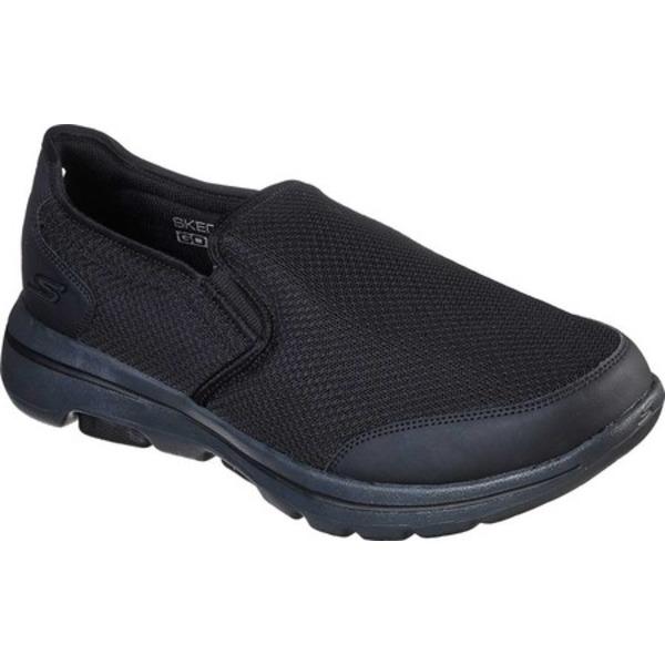 スケッチャーズ メンズ スニーカー シューズ GOwalk 5 Delco Slip On Sneaker Black/Charcoal