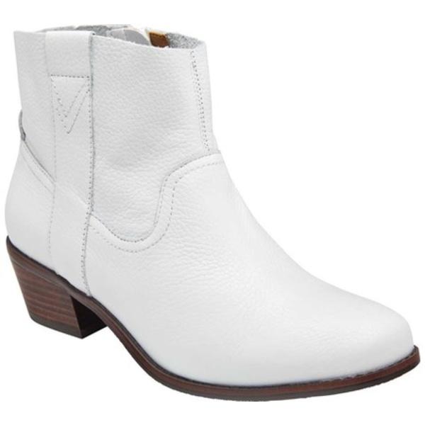 バイオニック レディース ブーツ&レインブーツ シューズ Roselyn Ankle Boot Tumbled White Leather