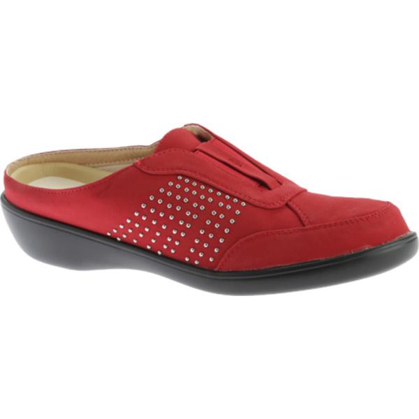 ビーコンシューズ レディース スニーカー シューズ Rosemary Clog Red Studded Lamy Polyurethane