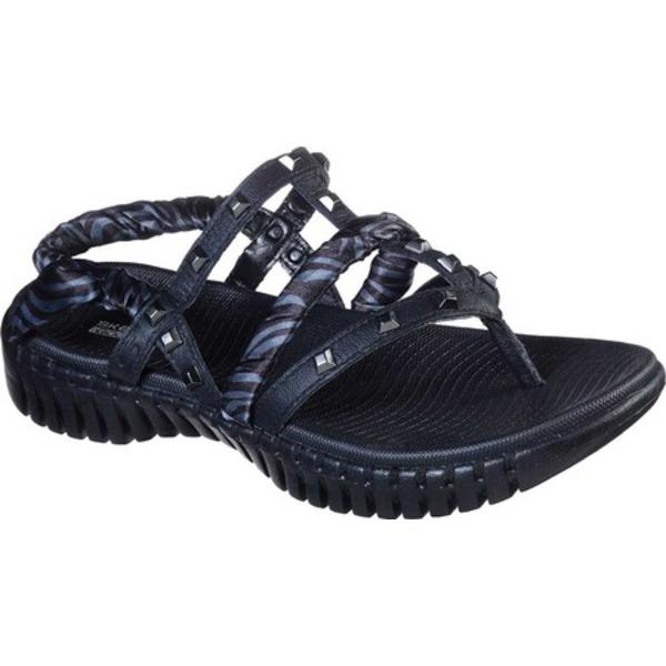 スケッチャーズ レディース スニーカー シューズ GOwalk Smart Verona Thong Sandal Black/Gray