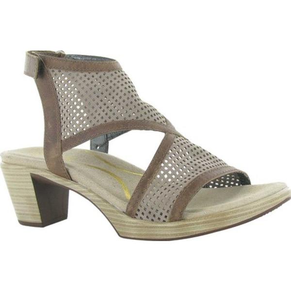 ナオト レディース サンダル シューズ Destiny Perforated Sandal Perforated Stone Nubuck/Saddle Brown Leather