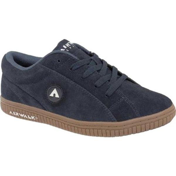 エアウォーク メンズ スニーカー シューズ The One Skate Shoe Navy/Gum Suede