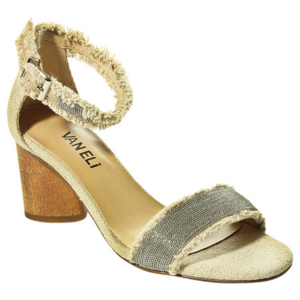 ベネリ レディース サンダル シューズ Lodina Ankle Strap Heeled Sandal Natural Canvas/Metallic