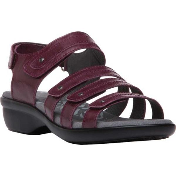 プロペット レディース スニーカー シューズ Aurora Strappy Slingback Sandal Plum Full Grain Leather