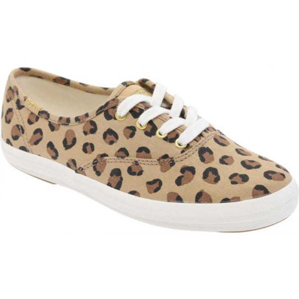 ケッズ レディース スニーカー シューズ Champion Oxford Leopard Sneaker Brown Leopard Canvas