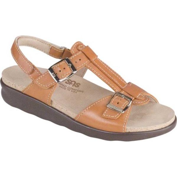 エスエーエス レディース サンダル シューズ Captiva T Strap Sandal Caramel Leather