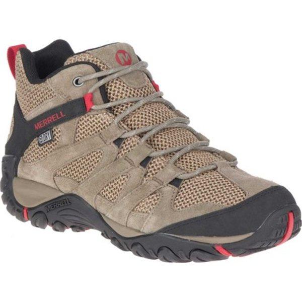 メレル メンズ ブーツ&レインブーツ シューズ Alverstone Mid Waterproof Hiker Boot Boulder Suede/Mesh