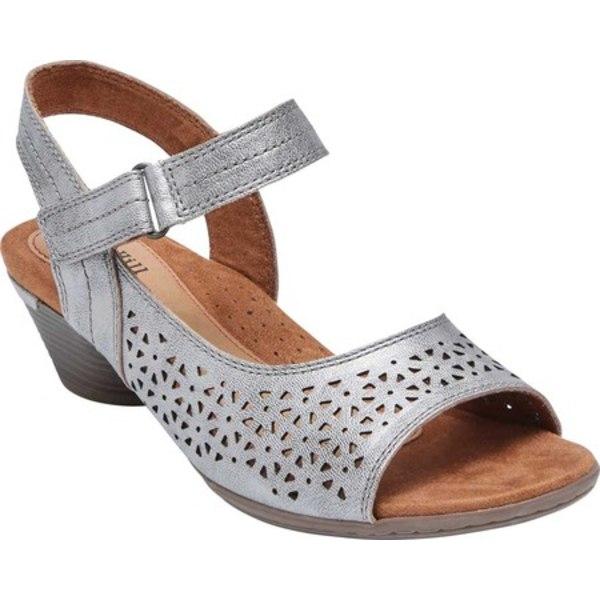 ロックポート レディース サンダル シューズ Cobb Hill Laurel Instep Perforated Sandal Metallic Full Grain Leather