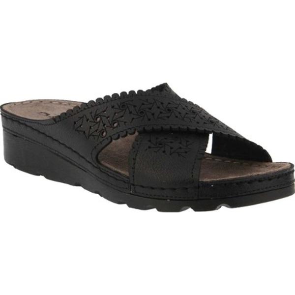 フレクサス レディース サンダル シューズ Passat Slide Sandal Black