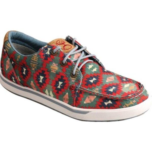 ツイステッド エックス レディース オックスフォード シューズ WHYC012 Hooey Loper Moc Toe Sneaker Aztec Print Fabric