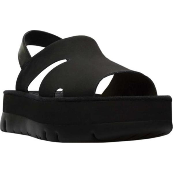カンペール レディース スニーカー シューズ Oruga Up Slingback Sandal Black Calf Full Grain Leather