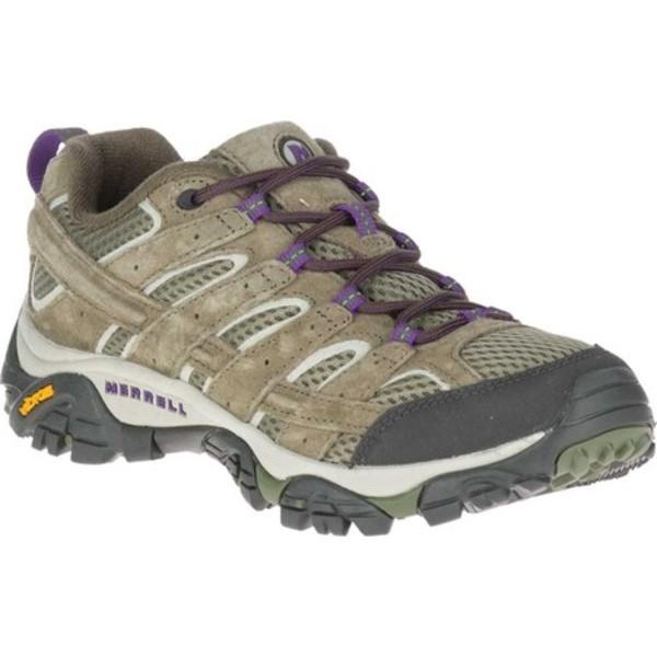 メレル レディース ブーツ&レインブーツ シューズ Moab 2 Vent Hiking Shoe Olive Pigskin Leather/Mesh