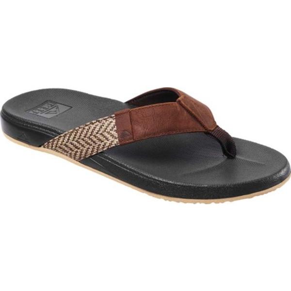 リーフ メンズ サンダル シューズ Cushion Bounce Phantom SE Flip Flop Brown/Tan Full Grain Leather