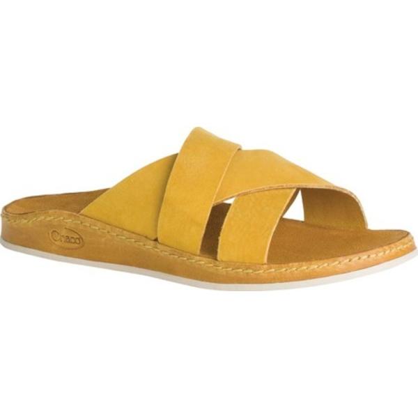 チャコ レディース サンダル シューズ Wayfarer Slide Ochre Full Grain Leather