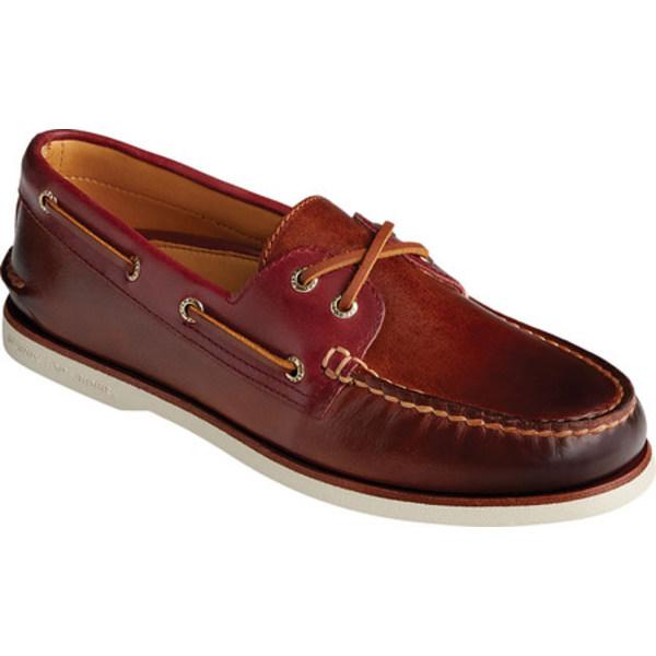 トップサイダー メンズ デッキシューズ シューズ Gold Cup Authentic Original 2-Eye Camden Boat Shoe Leather Brown Full Grain Leather