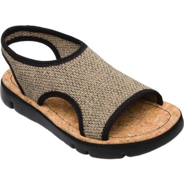 カンペール レディース スニーカー シューズ Oruga Flat Sandal Multi Sand Black Fabric