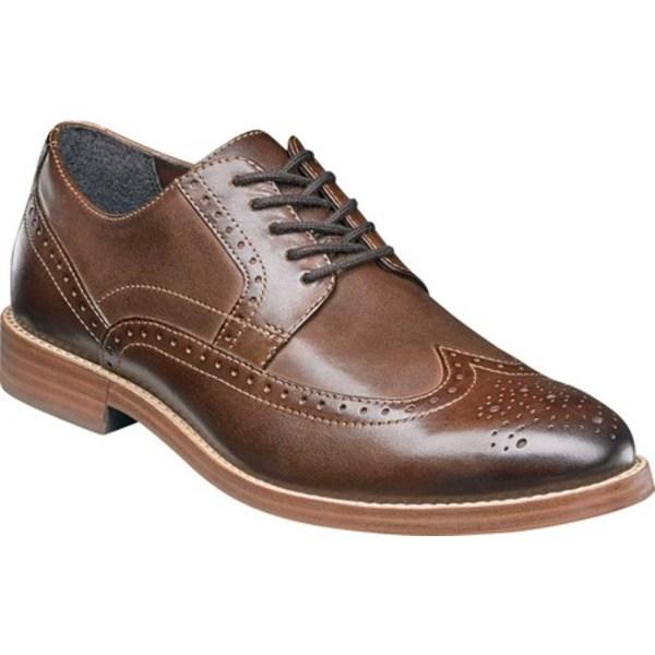 ノンブッシュ メンズ ドレスシューズ シューズ Middleton Wing Tip Oxford Brown Leather