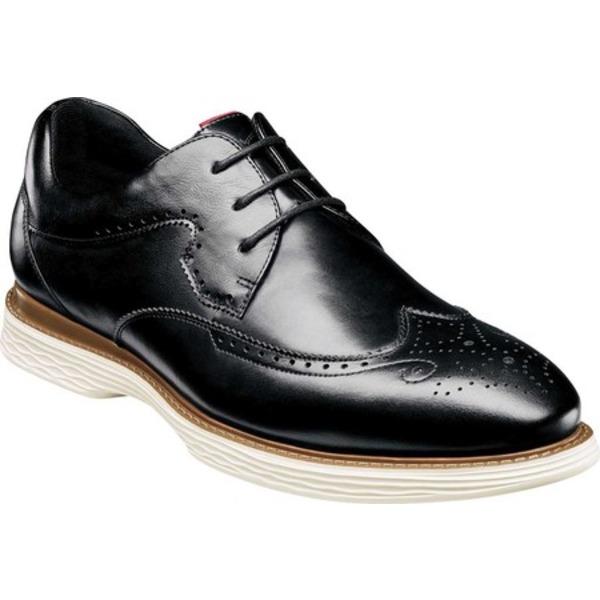 ステイシーアダムス メンズ ドレスシューズ シューズ Regent Wing Tip Oxford Black Burnished Smooth Leather