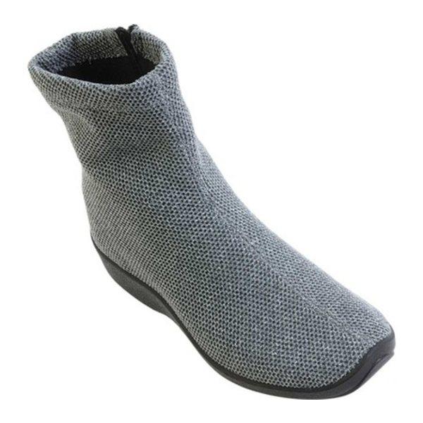 アルコペディコ レディース ブーツ&レインブーツ シューズ Net 8 Knit Bootie Gray Polyester Knit:asty