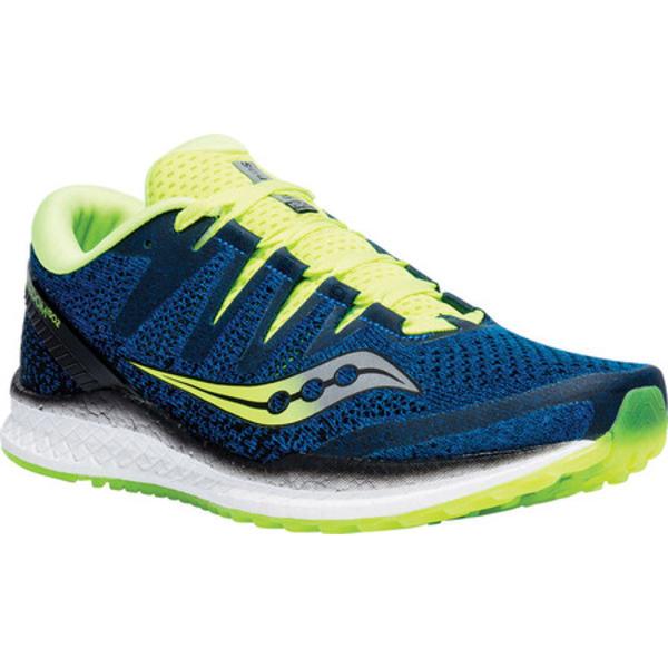 サッカニー メンズ スニーカー シューズ Freedom ISO 2 Running Shoe Blue/Citron