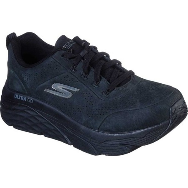 スケッチャーズ レディース スニーカー シューズ GoRun Max Cushioning Elite Higher View Sneaker Black/Black