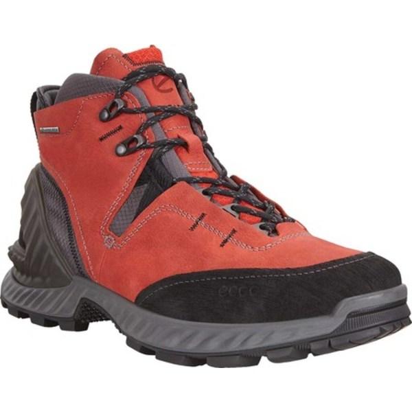 エコー メンズ ブーツ&レインブーツ シューズ Exohike High GORE-TEX Hiking Boot Black/Fire Nubuck
