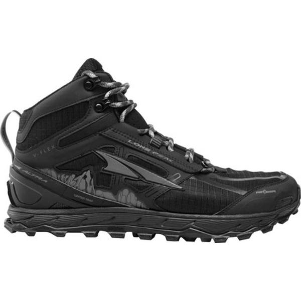 アルトラ レディース スニーカー シューズ Lone Peak 4.0 Mid Mesh Trail Running Shoe Black