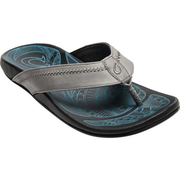 オルカイ メンズ スニーカー シューズ Hiapo Flip Flop Charcoal/Lava Rock Full Grain Leather