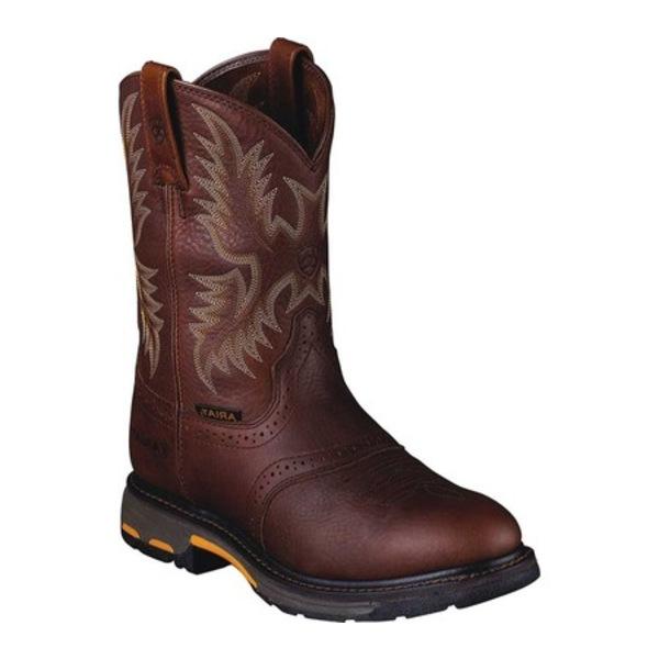 アリアト メンズ ブーツ&レインブーツ シューズ Workhog Pull-On Dark Copper Full Grain Leather