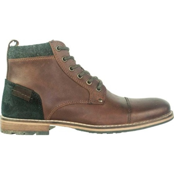 クレボ メンズ ブーツ&レインブーツ シューズ Herc Cap Toe Boot Brown Leather