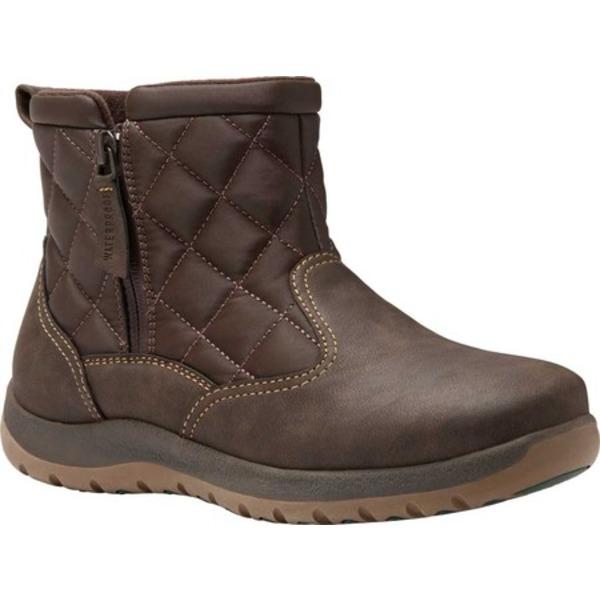 イーストランド レディース ブーツ&レインブーツ シューズ Blossom Waterproof Zipper Boot Brown Synthetic