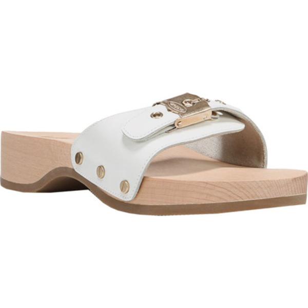 ドクターショール レディース サンダル シューズ Original Slide Sandal White Leather