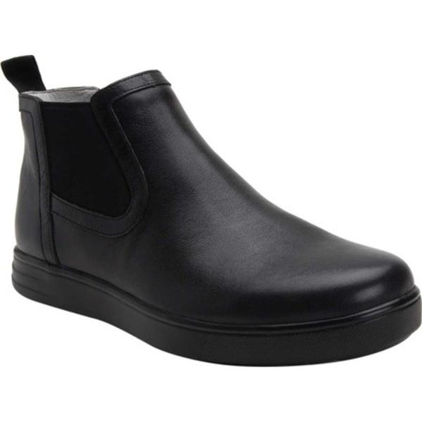 アレグリア メンズ ブーツ&レインブーツ シューズ TRAQ Sliq Chelsea Boot Crazyhorse Black Leather