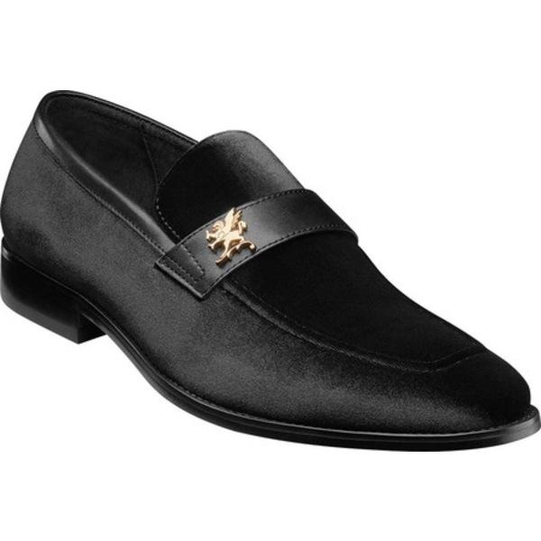 ステイシーアダムス メンズ ドレスシューズ シューズ Bellino Loafer Black Velour/Leather
