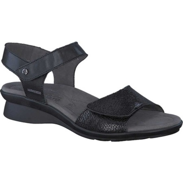 メフィスト レディース サンダル シューズ Pattie Quarter Strap Sandal Black/Moon Softy Smooth Leather
