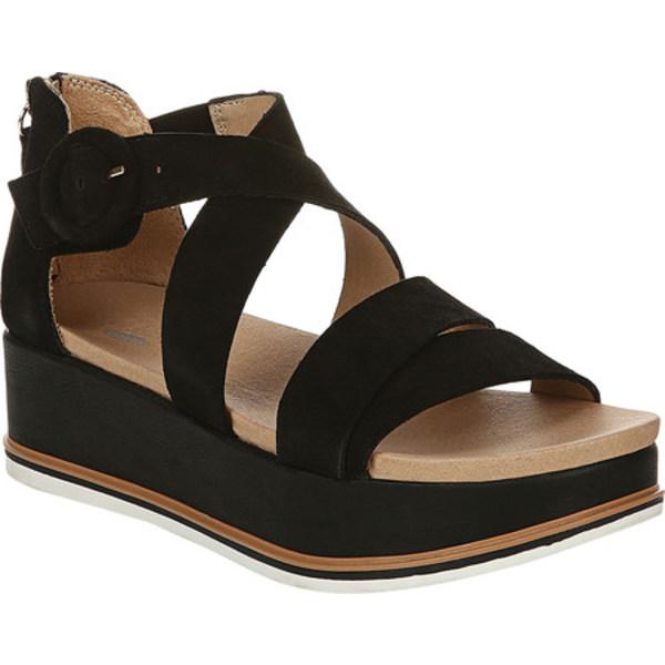 ドクターショール レディース サンダル シューズ Carry On Platform Sandal Black Leather