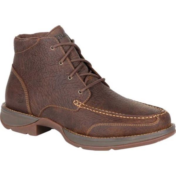 ヂュランゴ メンズ ブーツ&レインブーツ シューズ DDB0250 Red Dirt Rebel Moc-Toe Lacer Work Boot Bark Brown Full Grain Leather