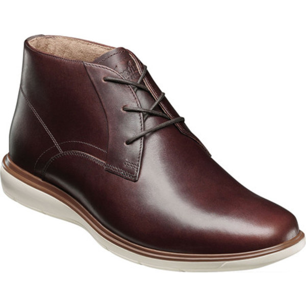 フローシャイム メンズ ブーツ&レインブーツ シューズ Ignight Plain Toe Chukka Boot Brown Pull Up Leather