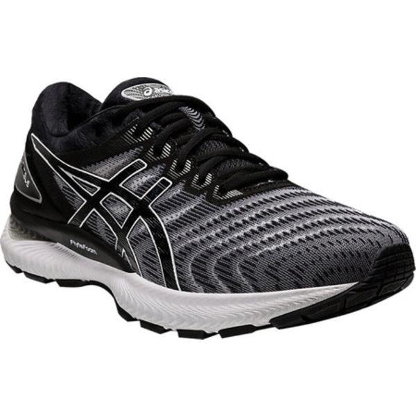 アシックス メンズ スニーカー シューズ GEL-Nimbus 22 Running Sneaker White/Black