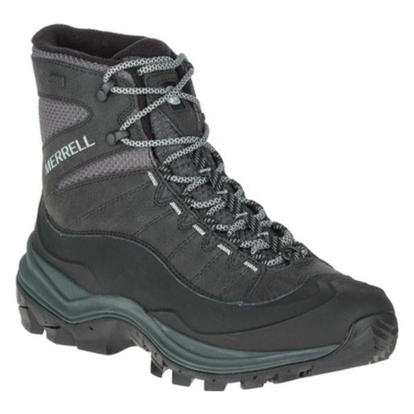 メレル メンズ ブーツ&レインブーツ シューズ Thermo Chill Mid Shell Waterproof Hiking Boot Black Leather/Mesh