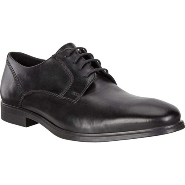 エコー メンズ ドレスシューズ シューズ Queenstown Plain Toe Tie Oxford Black Full Grain Leather
