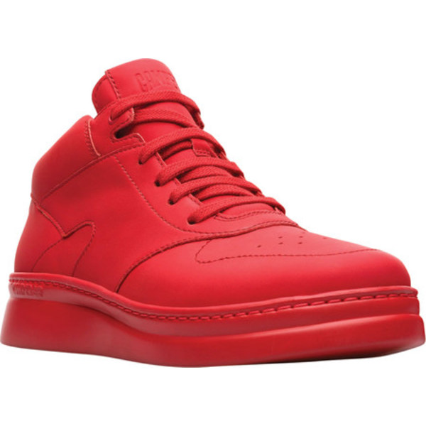 カンペール レディース スニーカー シューズ Runner Up Mid Top Sneaker Red Rubberized Matte Leather