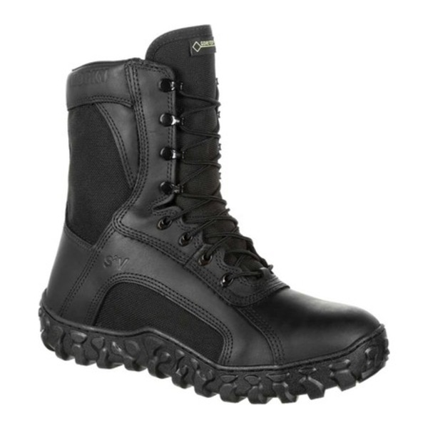 ロッキー メンズ ブーツ&レインブーツ シューズ S2V Flight 600G GTX WP Military Boot RKC079 Black Leather/Synthetic