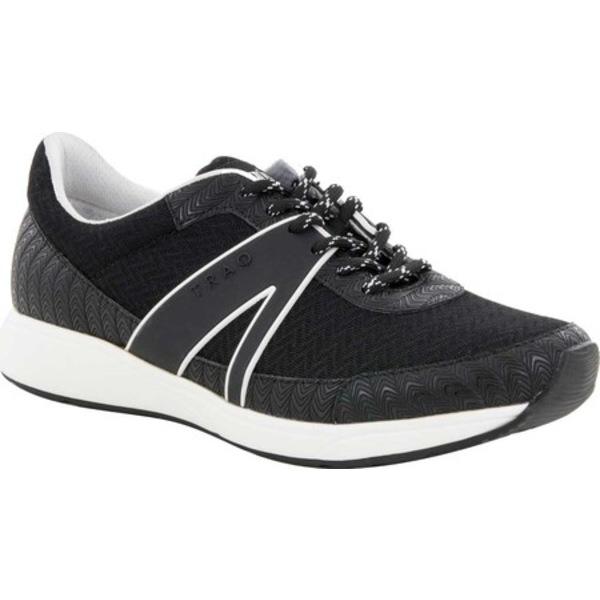 アレグリア レディース スニーカー シューズ TRAQ Qarma Sneaker Paths Black Knit Fabric