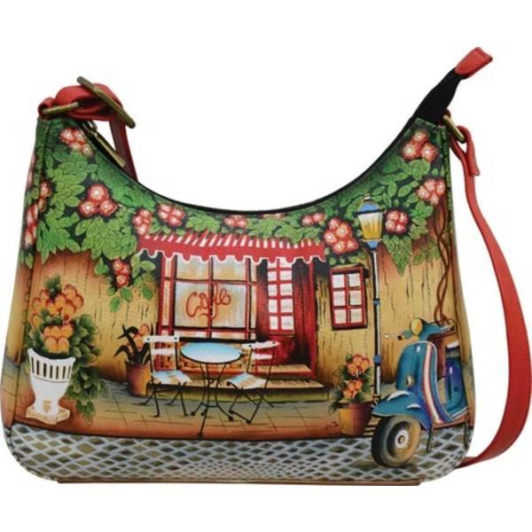 アンナバイアナシュカ レディース ハンドバッグ バッグ Hand Painted Leather Large Hobo Bag 8362 Le Café