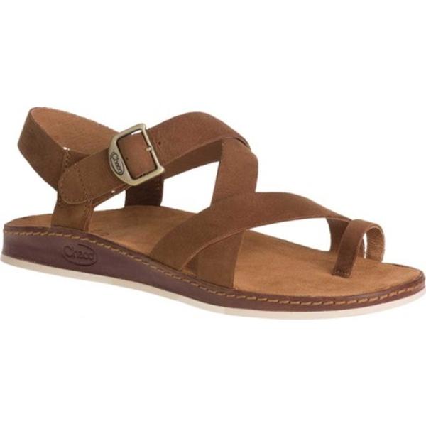 チャコ レディース サンダル シューズ Wayfarer Toe Loop Sandal Toffee Full Grain Leather